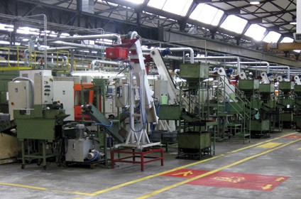 Machining department
